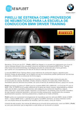 pirelli se estrena como proveedor de neumáticos para la escuela de