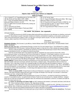 School Newsletter - Seven Hills Charter Public School – Worcester