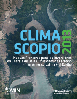 Climascopio 2013 Reporte por Bloomberg New Energy Finance