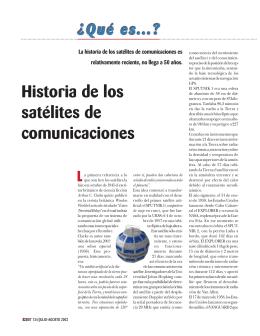 Historia de los satélites de comunicaciones