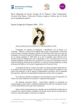 Breve Biografía de Suceso Luengo de la Figuera, Clara
