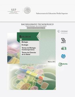 Biología, Ecología - cosdac