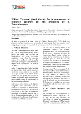 William Thomson (Lord Kelvin). De la temperatura al telégrafo