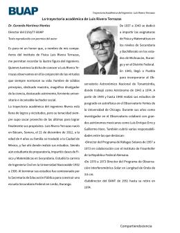 La trayectoria académica de Luis Rivera Terrazas