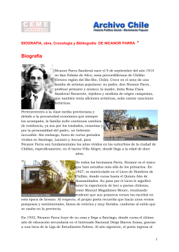 BIOGRAFÍA DE NICANOR PARRA
