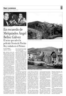 En recuerdo de Melquíades Ángel Belloc Gálvez