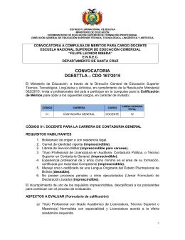convocatoria dgesttla – cdo 167/2015