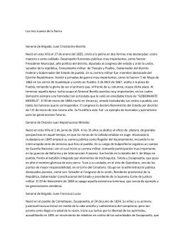 Los tres Juanes de la Sierra General de Brigada: Juan Crisóstomo
