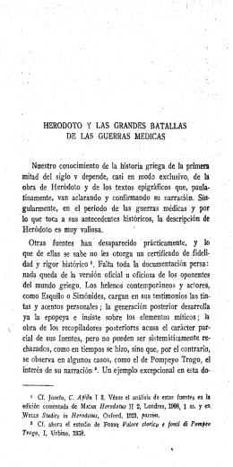 HERODOTO Y LAS GRANDES BATALLAS DE LAS