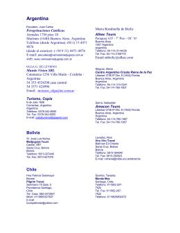 Lista de Agencias de Viajes