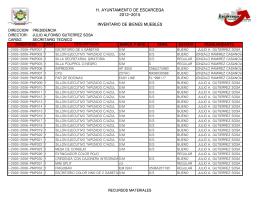 Inventario de Bienes Muebles 2014
