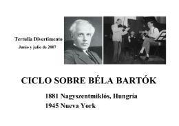 Breves notas sobre Bela Bartok