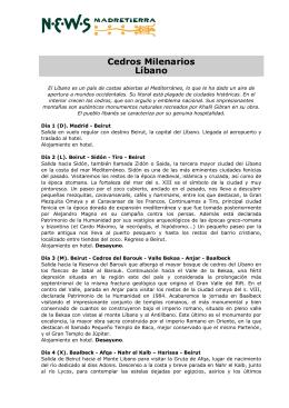 Cedros Milenarios Líbano