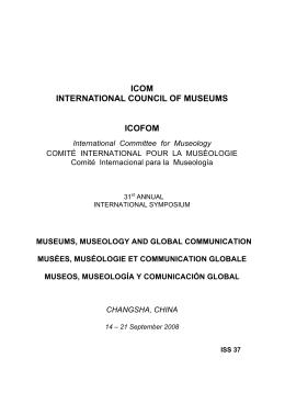 ICOM INTERNATIONAL COUNCIL OF MUSEUMS ICOFOM
