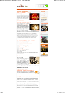 Weltmusik Internet Radio - Multikulti & mehr aus Berlin: multicult.fm