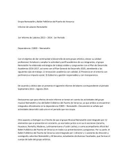 Grupo Nematatlín y Ballet Folklórico del Puerto de Veracruz Informe