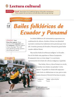 Bailes folklóricos de Ecuador y Panamá