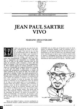 JEAN PAUL S ARTRE VIVO - Fundación Gustavo Bueno