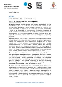 Rueda de prensa: Rafael Nadal (ESP)