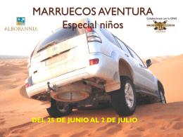 MARRUECOS AVENTURA Especial niños
