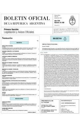 BOLETIN OFICIAL - Cámara de Diputados de la Nación