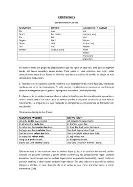 PREPOSICIONES ACUSATIVO DATIVO - Deutsch-III-10-11