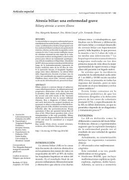 Atresia biliar: una enfermedad grave