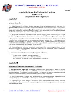 Asociación Deportiva Nacional de Porristas (ADENPO) Reglamento
