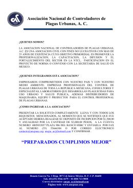 ASOCIACION NACIONALDE CONTROLADORES DE PLAGAS