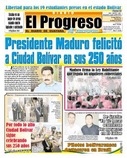 Por todo lo alto Ciudad Bolívar sigue