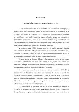 CAPÍTULO I PROBLEMÁTICA DE LA REALIDAD