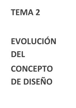 evolución del concepto de diseño