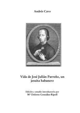 Vida de José Julián Parreño, un jesuita habanero