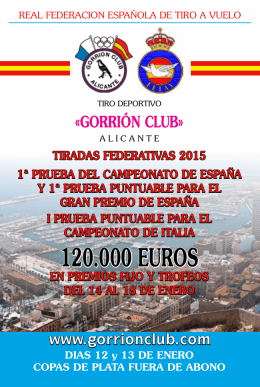 120.000 EUROS - Real Federación Española de Tiro al Vuelo