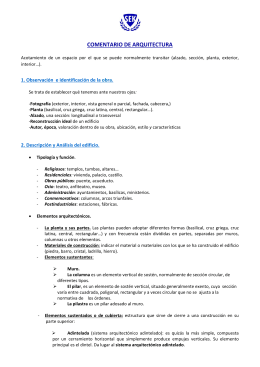 COMENTARIO DE ARQUITECTURA