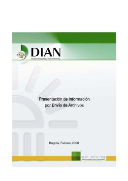 Cartilla Presentación de Información por Envío de Archivos