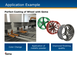 Case Study Automotive: Wheels Application Example