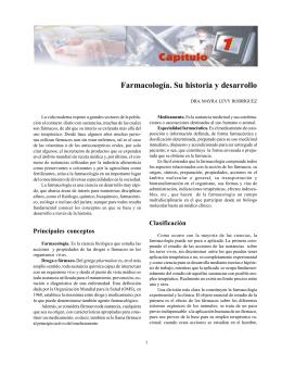 Farmacología. Su historia y desarrollo