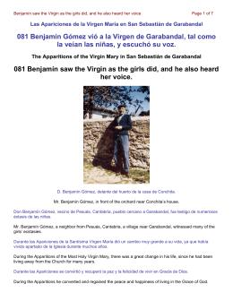 081 Benjamín Gómez vió a la Virgen de Garabandal, tal como la