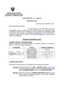 """Circular 031 - Liceo Naval """"Almirante Guise"""""""
