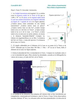 Hoja 6. Tema VI. Gravedad. Astronomía. 1. La Unidad Astronómica