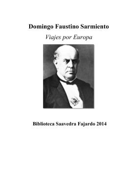 Domingo Faustino Sarmiento Viajes por Europa
