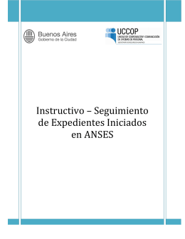 Instructivo segimiento expedientes iniciados en ANSES