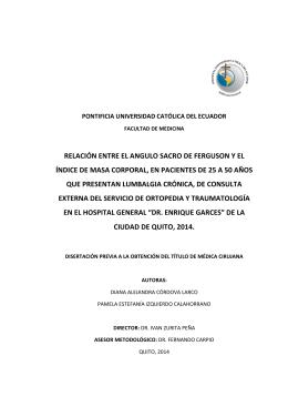 RELACIÓN ENTRE EL ANGULO SACRO DE FERGUSON Y EL