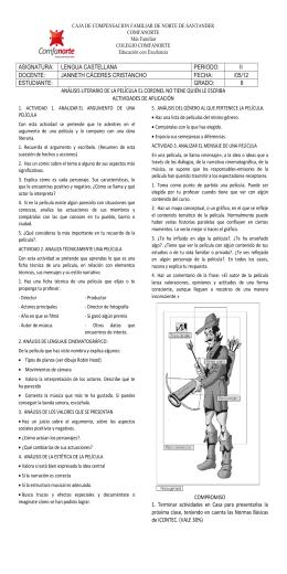 ANÁLISIS LITERARIO DE LA PELÍCULA EL CORONEL NO TIENE
