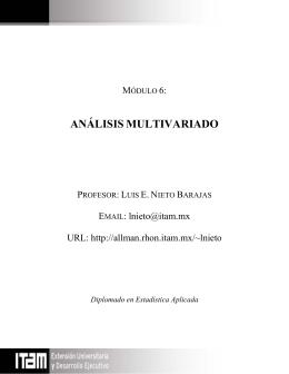 Módulo 6: Análisis Multivariado