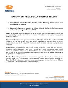 EXITOSA ENTREGA DE LOS PREMIOS TELEHIT