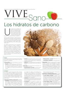 Los hidratos de carbono - Instituto Tomás Pascual Sanz