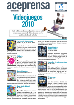 Tendencias. Videojuegos 2010. Especial navidad