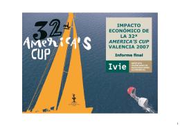 IMPACTO ECONÓMICO DE LA 32ª AMERICA`S CUP VALENCIA 2007